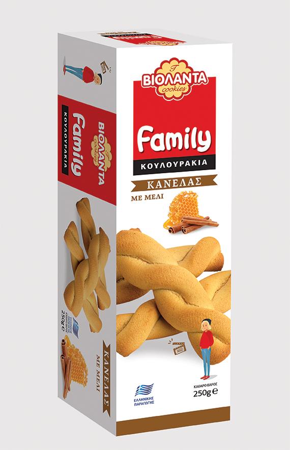 Κουλουράκια με Κανέλα και Μέλι Family Βιολάντα (250g)