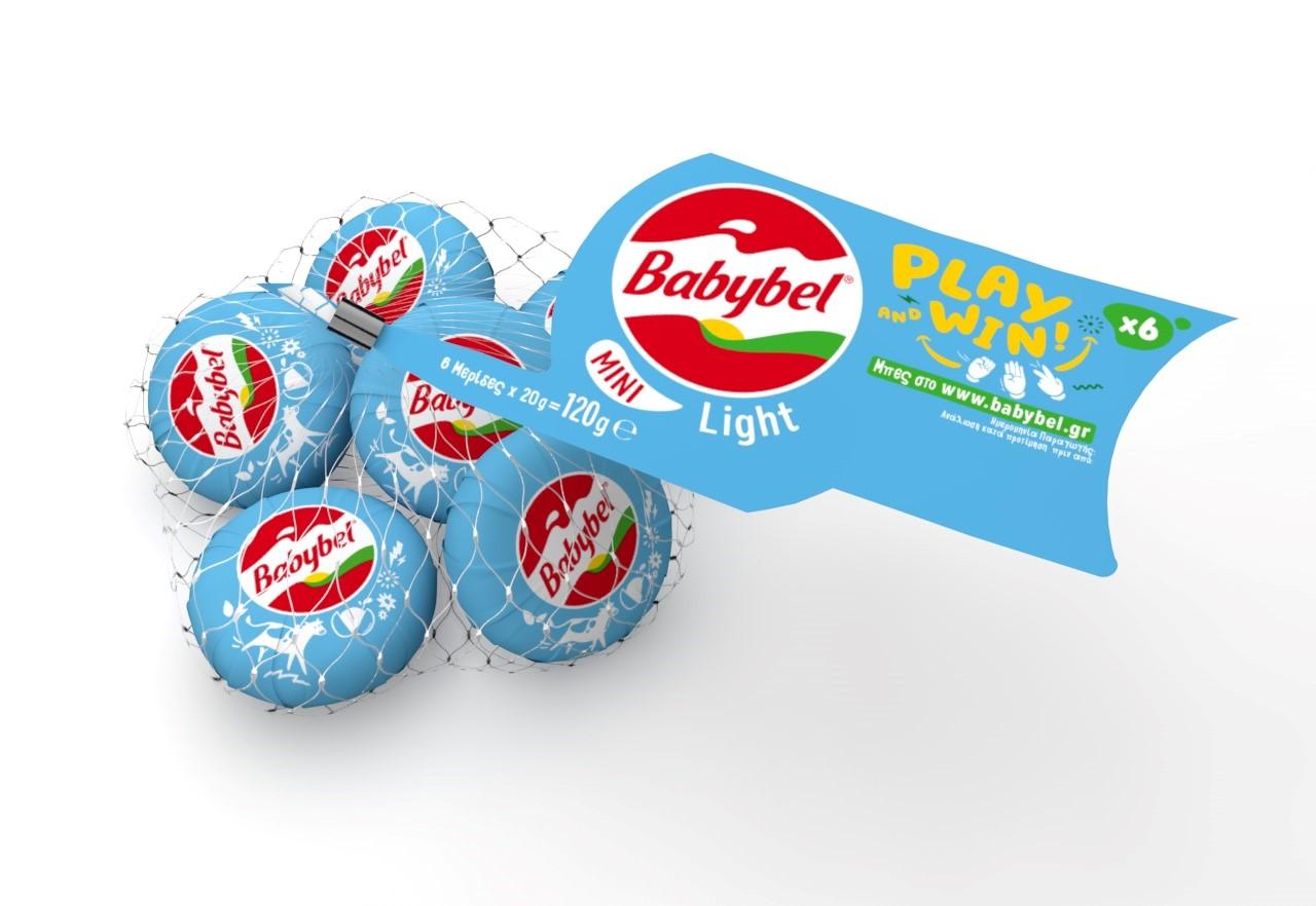 Τυράκια 6 μερίδες Light Mini Babybel (120g) Play & Win