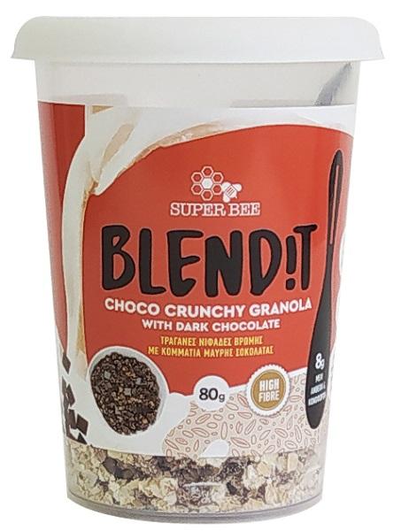 Granola με Κομμάτια Μαύρης Σοκολάτας Blend it! SuperBee(88g)