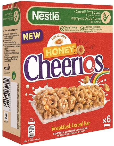 Μπάρες Δημητριακών Πρωινού Honey Cheerios Nestle (6x22g)