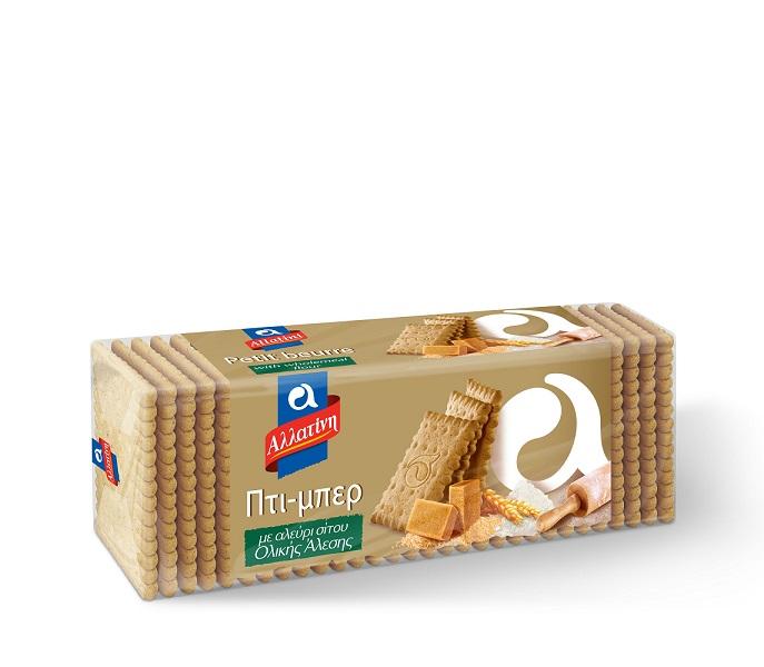 Μπισκότα Πτι Μπερ Ολικής Άλεσης Αλλατίνη (225 g)