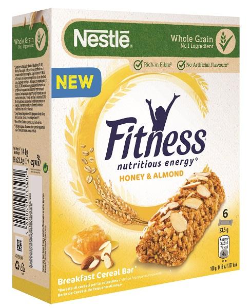 Μπάρες Δημητριακών Fitness με Μέλι & Αμύγδαλα Nestle (6x23,5g)