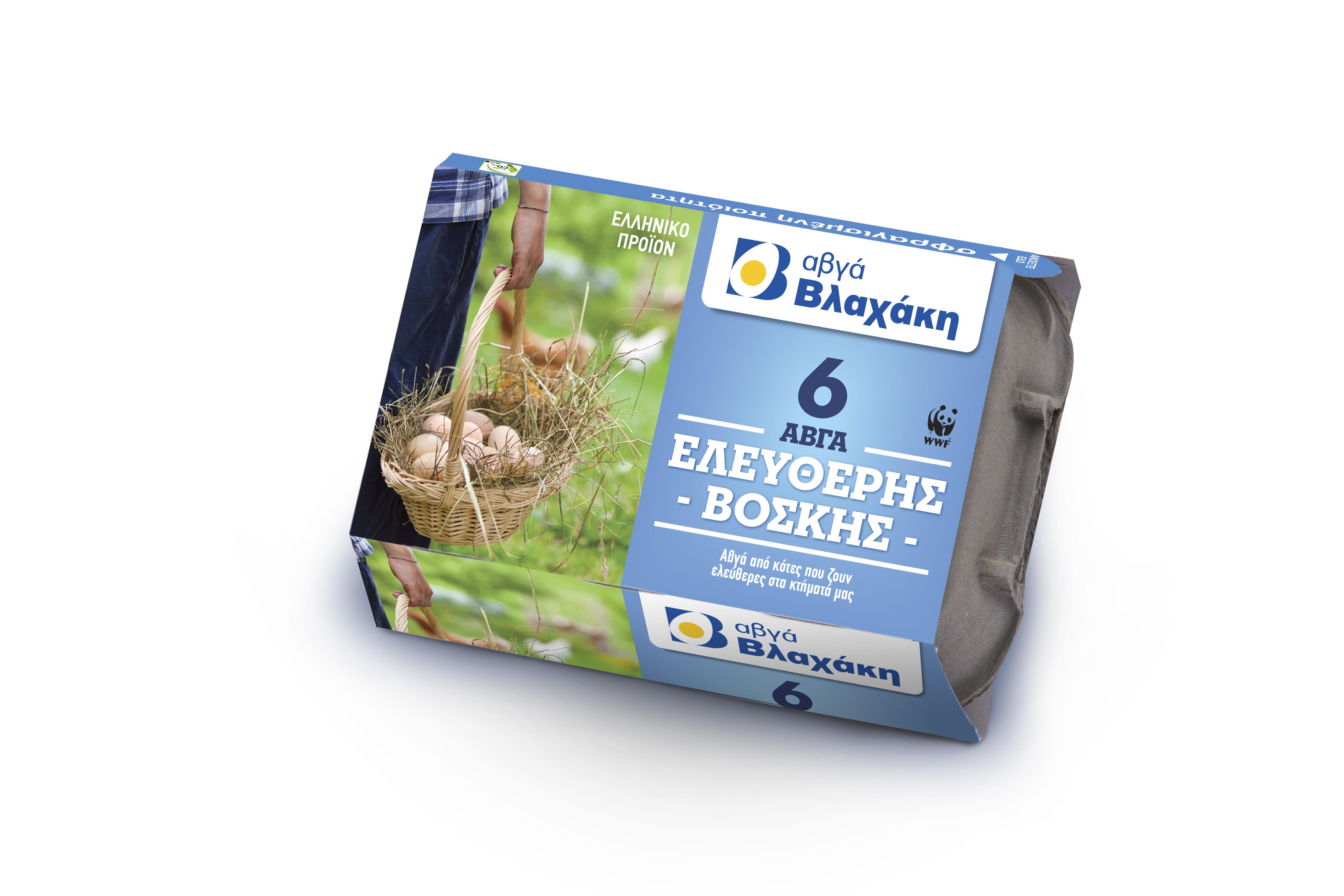 Αυγά Φρέσκα Ελευθέρας Βοσκής Medium 6τεμ. Βλαχάκη (53-63 g) -0.50€