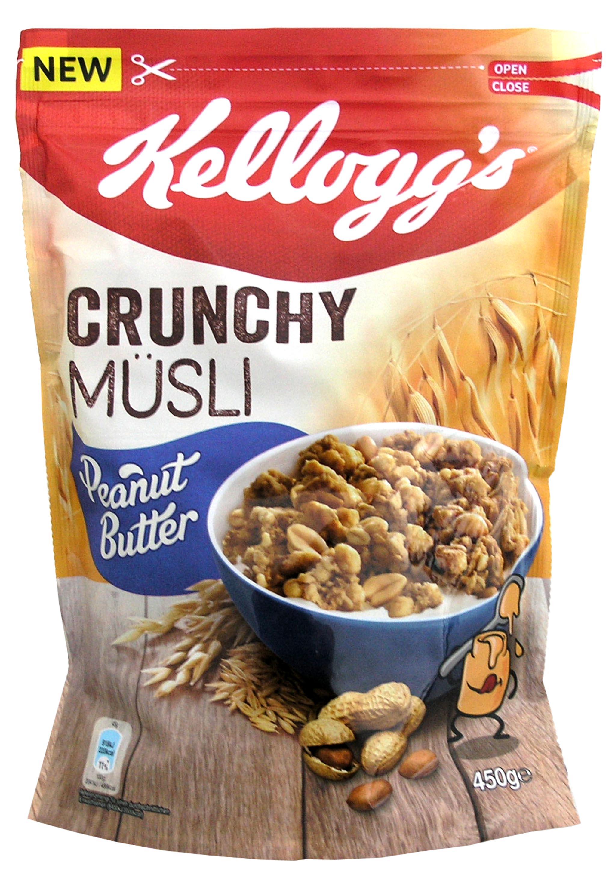 Δημητριακά Crunchy Clustres Peanut Butter Kellogg's (450gr)
