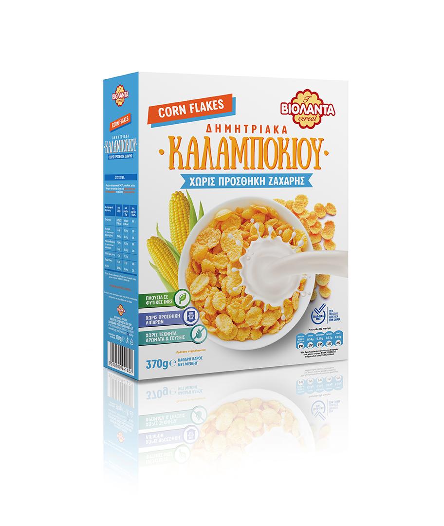 Δημητριακά Καλαμπoκιού Χωρίς Ζάχαρη Βιολάντα (370g)