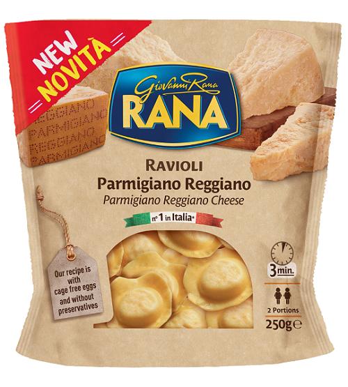 Φρέσκα Ζυμαρικά Ραβιόλι με Αυγό και Γέμιση Παρμεζάνα Reggiano Rana (250g)