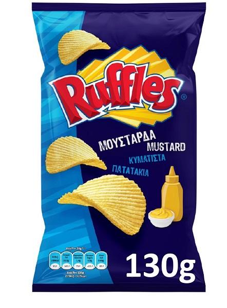 Κυματιστά Πατατάκια Μουστάρδα Ruffles (3x130g) 2+1 Δώρο