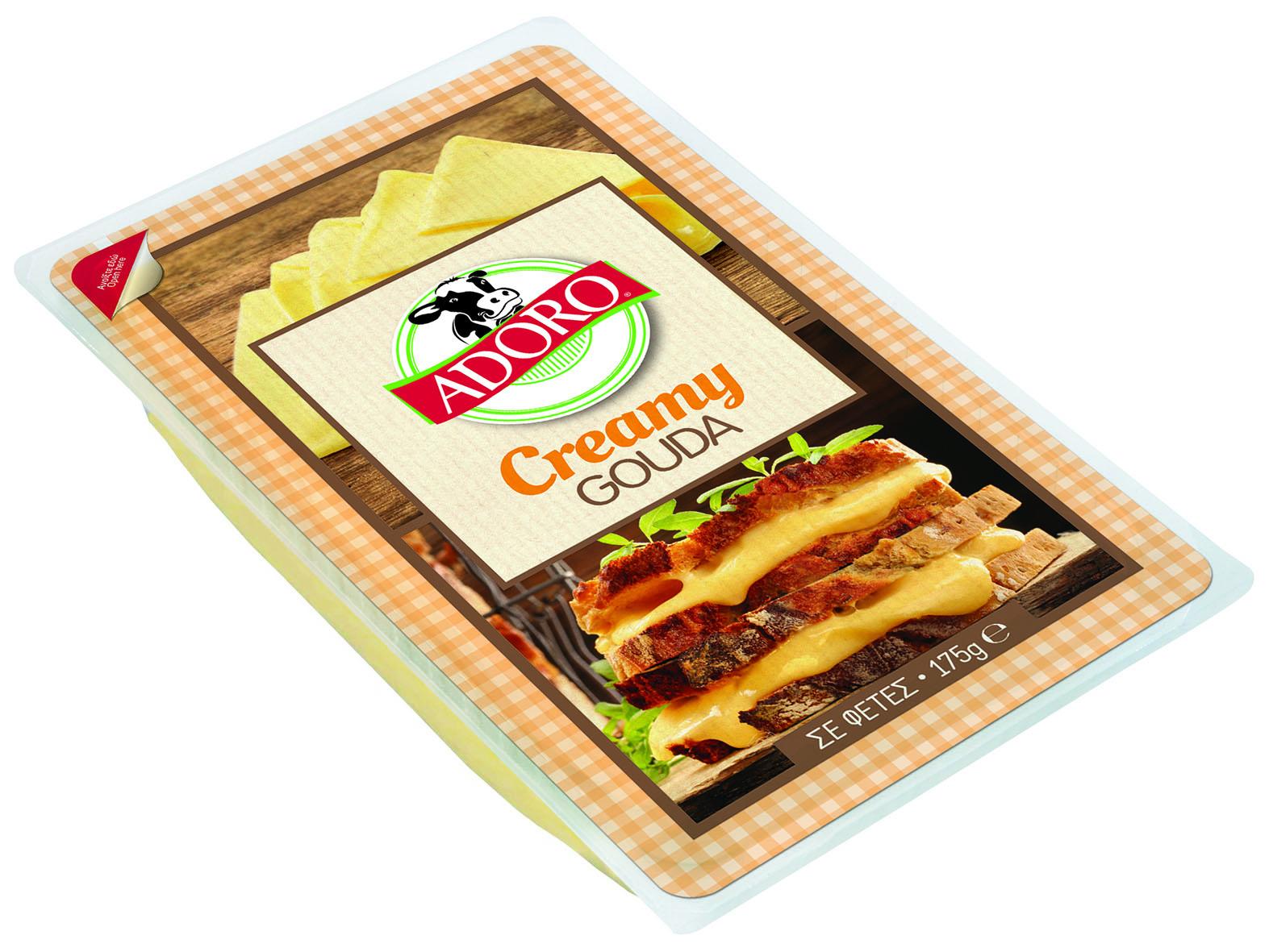 Τυρί Creamy Gouda σε Φέτες Adoro (175g)