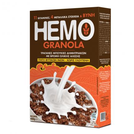 Τραγανές Μπουκιές Δημητριακών Ηemo Granola Γιώτης (400g)