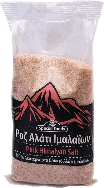 Αλάτι Ροζ Ιμαλαΐων Ψιλό σε Σακουλάκι Special Foods (500g)