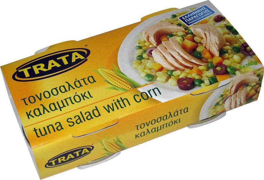 Τονοσαλάτα Καλαμπόκι Trata (2x160 g)