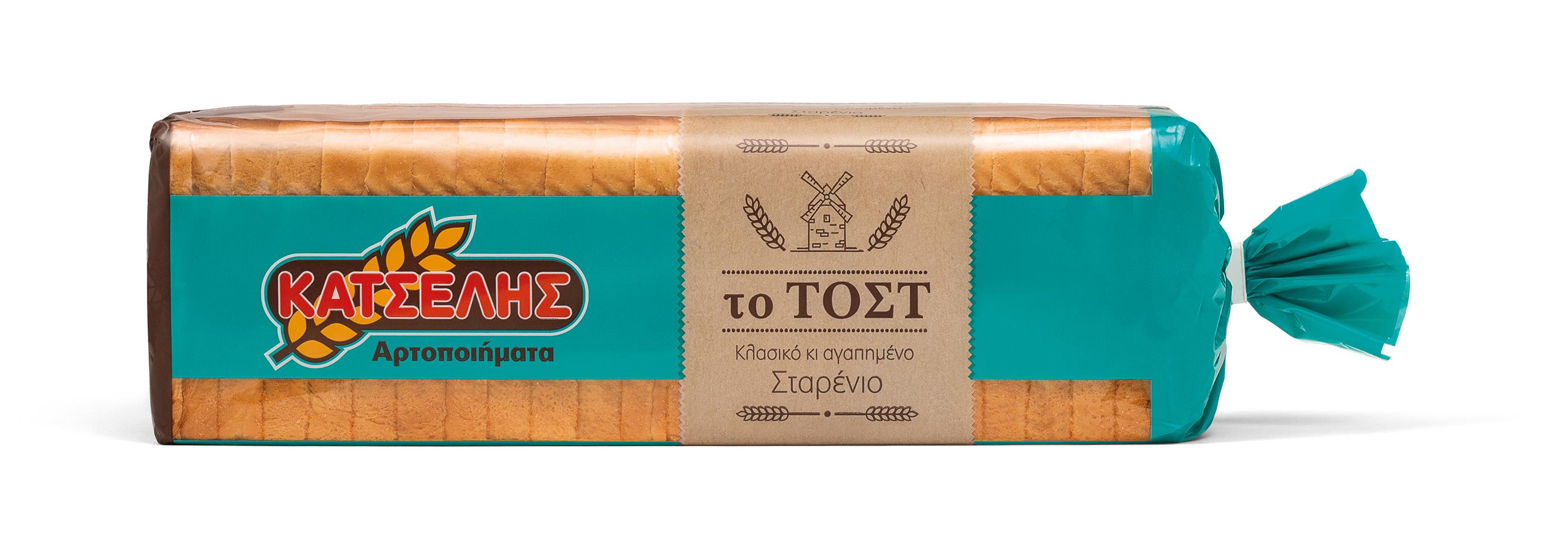 Ψωμί Το Τόστ Σταρένιο Κατσέλης (720 g)
