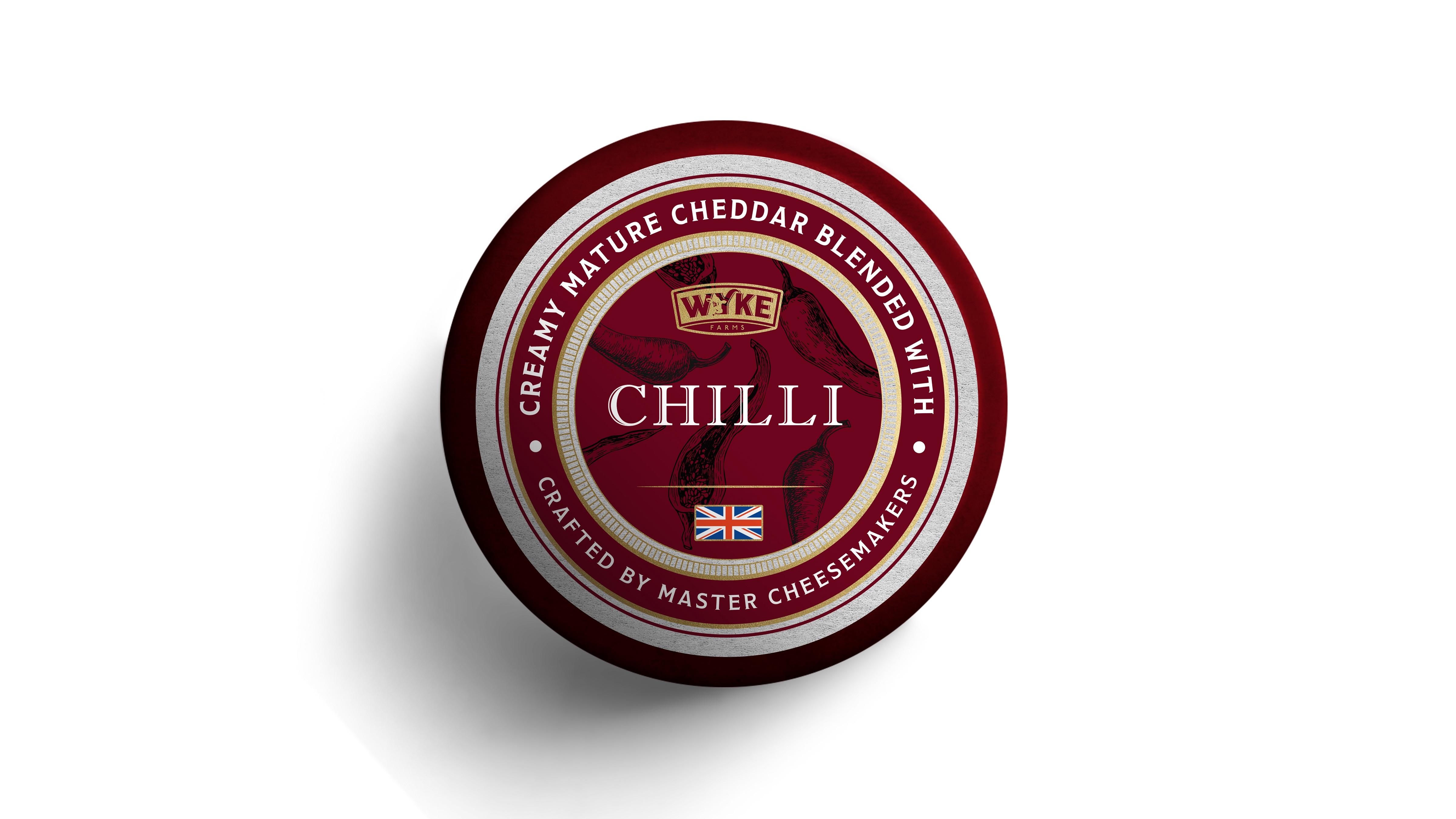 Τυρί Cheddar με Chilli Wyke Farms (100g)