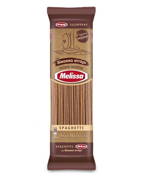 Σπαγγέτι Ολικής Δίκοκκο Σιτάρι Melissa (400g)