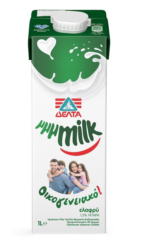 Γάλα Υψηλής Θερμικής Επεξεργασίας μμμMilk Οικογενειακό 1,5% λιπαρά Δέλτα (1lt)