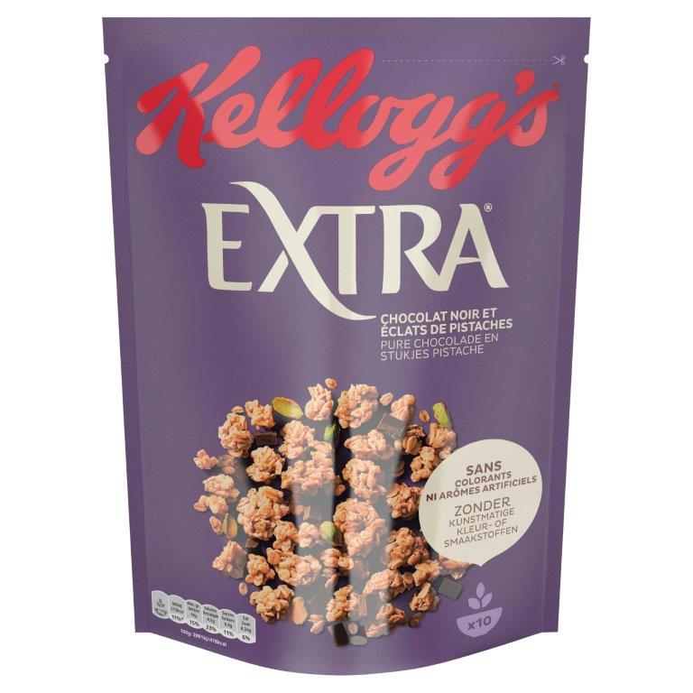 Δημητριακά Βρώμης με Μαύρη Σοκολάτα και Φυστίκια Kellogg's (2x450g)1+1 Δώρο