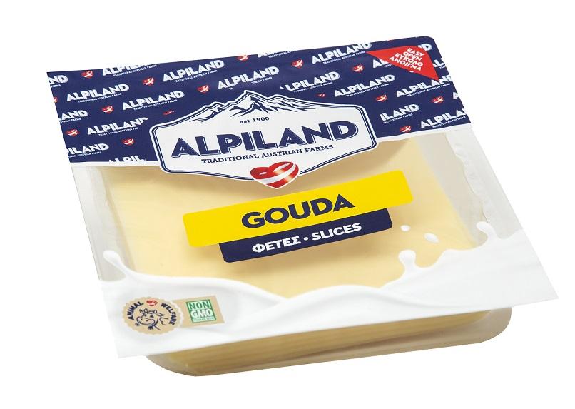 Τυρί Gouda σε Φέτες Alpiland (200g)