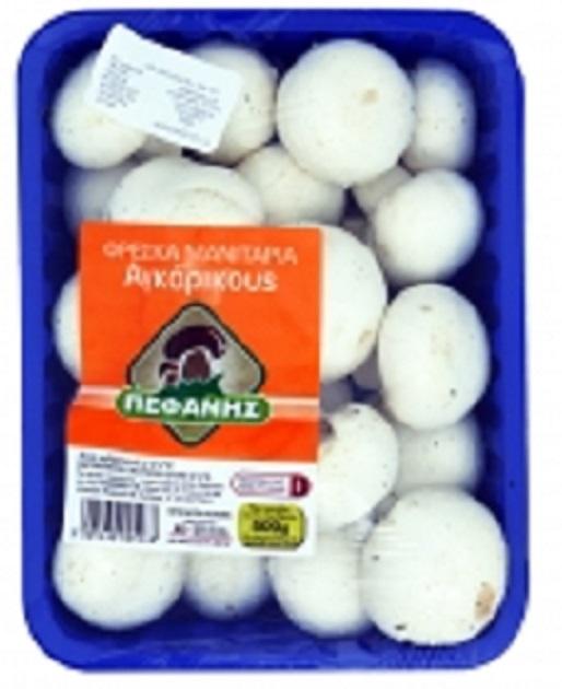 Μανιτάρια Λευκά Εισαγωγής Πεφάνης (500 g)