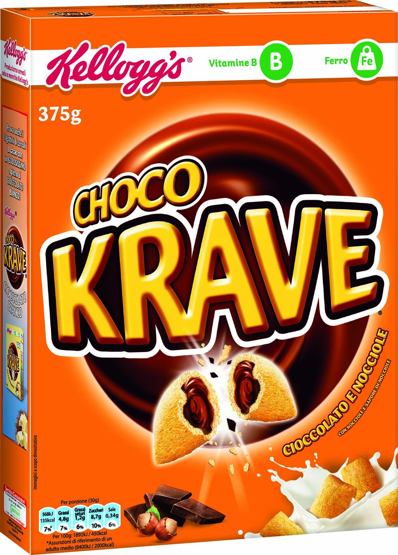 Δημητριακά Krave Choco Kellogg's (375 g) 1+1 Δώρο