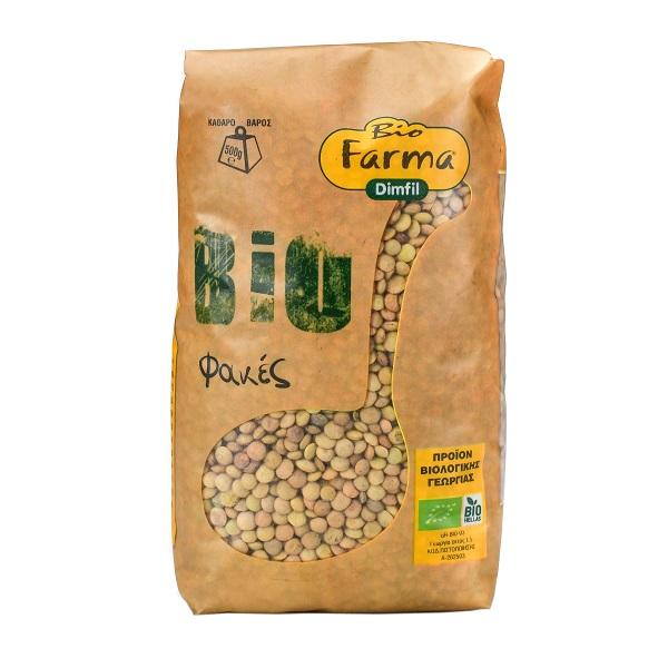 Βιολογικές Φακές Ψιλές Bio Farma (500 g)
