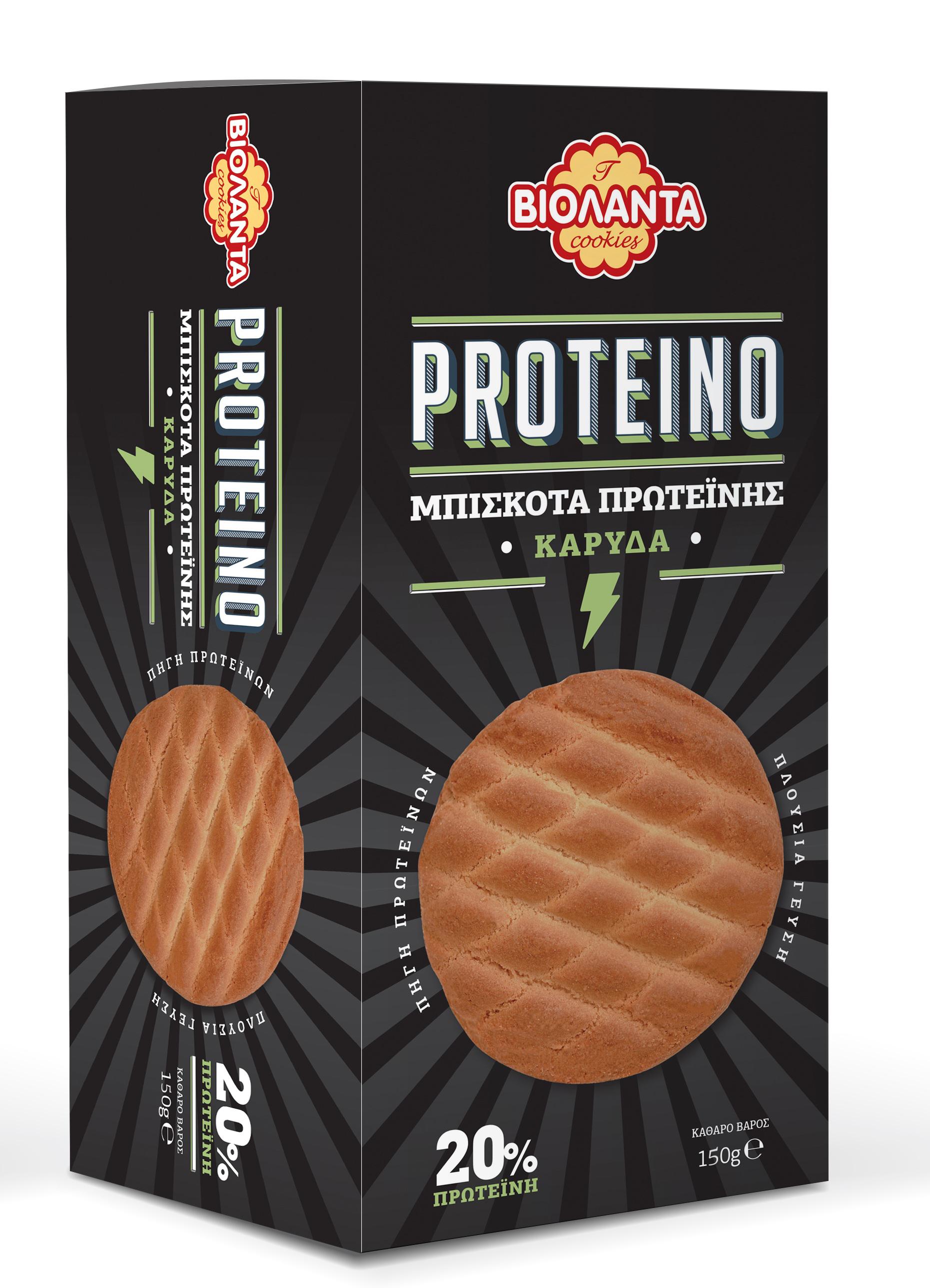 Μπισκότα Πρωτεΐνης με Καρύδα Proteino Βιολάντα (150g)