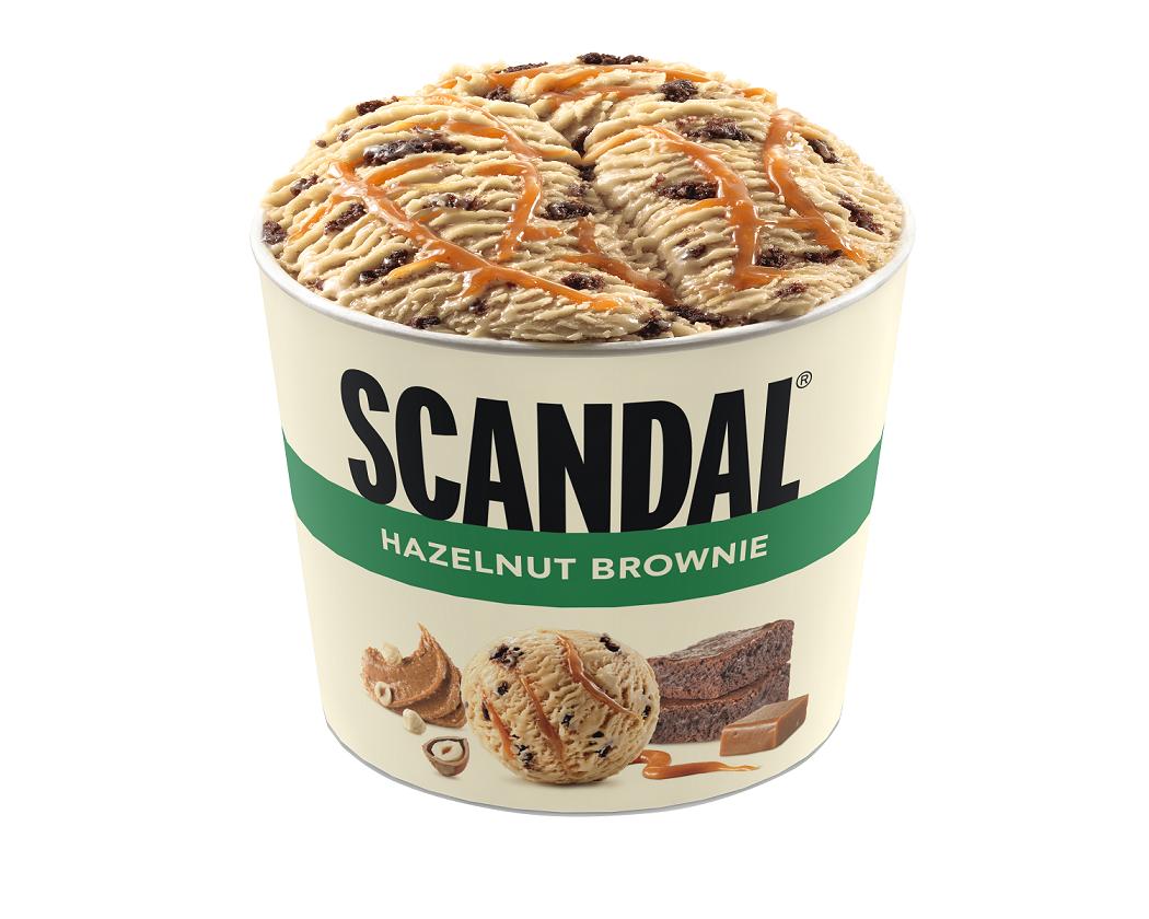 Παγωτό Hazelnut-Brownie Scandal (140 ml)