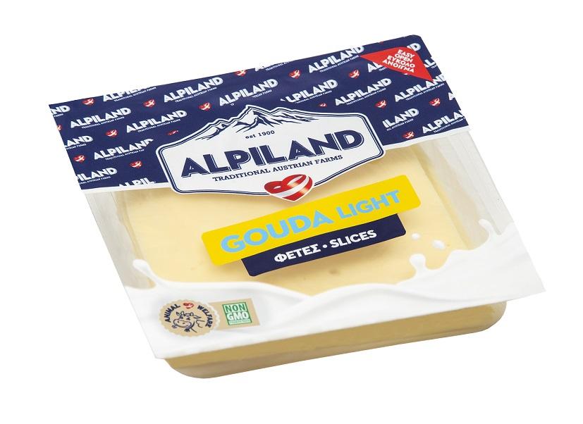 Τυρί Gouda light σε Φέτες Alpiland (200g)