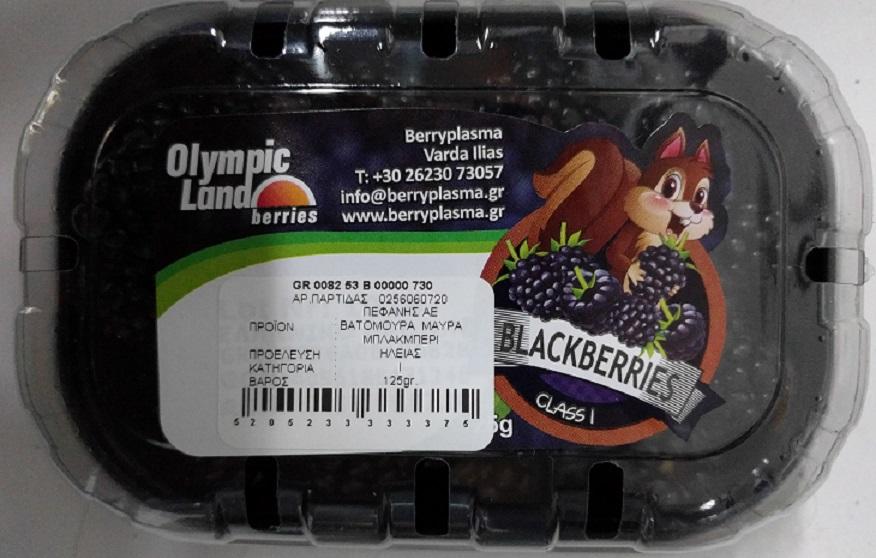 Blackberries Ελληνικά Πεφάνης (125g)