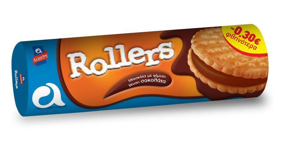 Μπισκότα Rollers Σοκολάτα Αλλατίνη (250 g) -0,30€