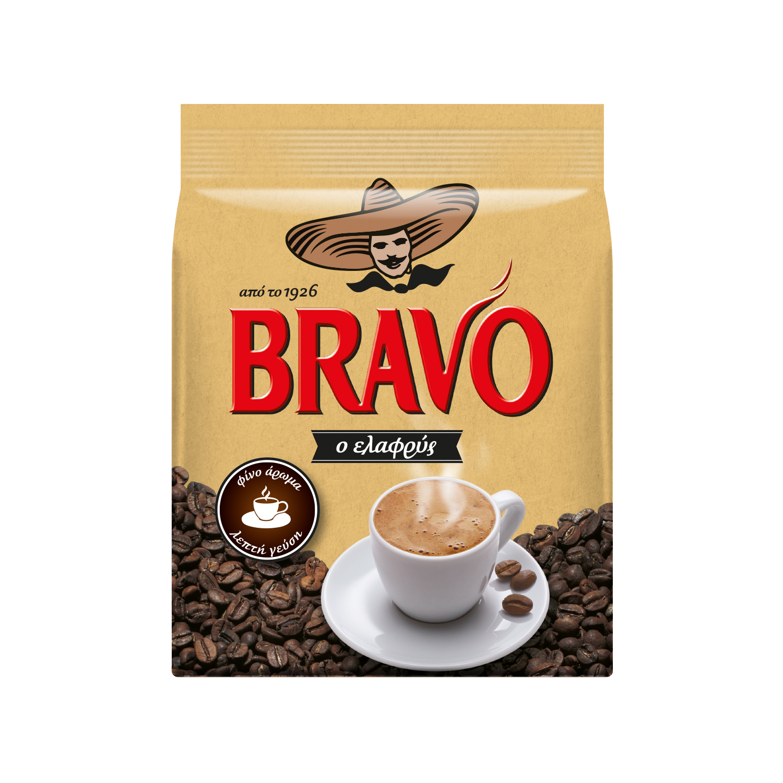 Καφές Ελαφρύς Bravo (195 g)
