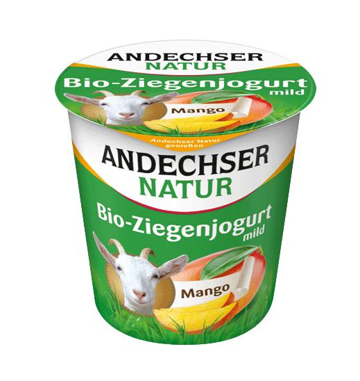 Βιολογικό Κατσικίσιο Επιδόρπιο Γιαουρτιού με Μάνγκο 3,5% λιπαρά Andechser (125g)