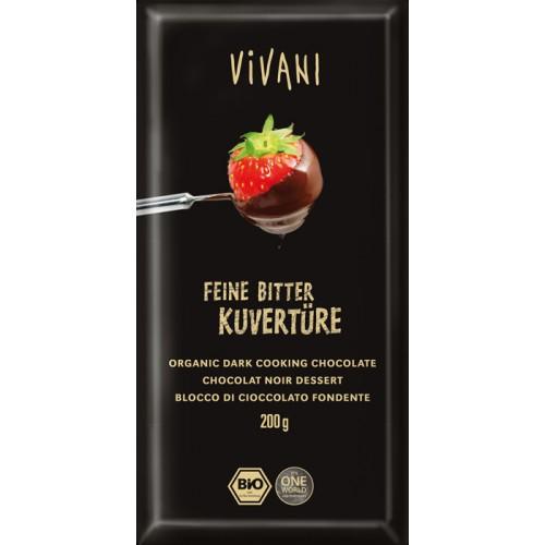 Κουβερτούρα Μαύρη Βιολογική Vivani (200g)