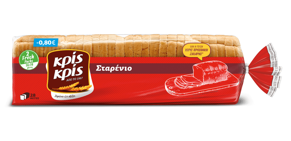 Ψωμί του τοστ Σταρένιο Κρις Κρις (700 g)