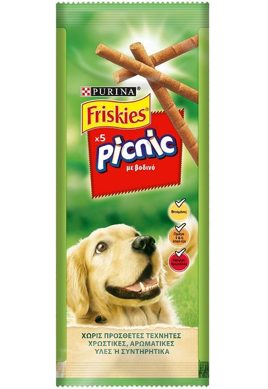 Σνακ Πικ Νικ Βοδινό Friskies (2x5 τεμ) 1+1 Δώρο