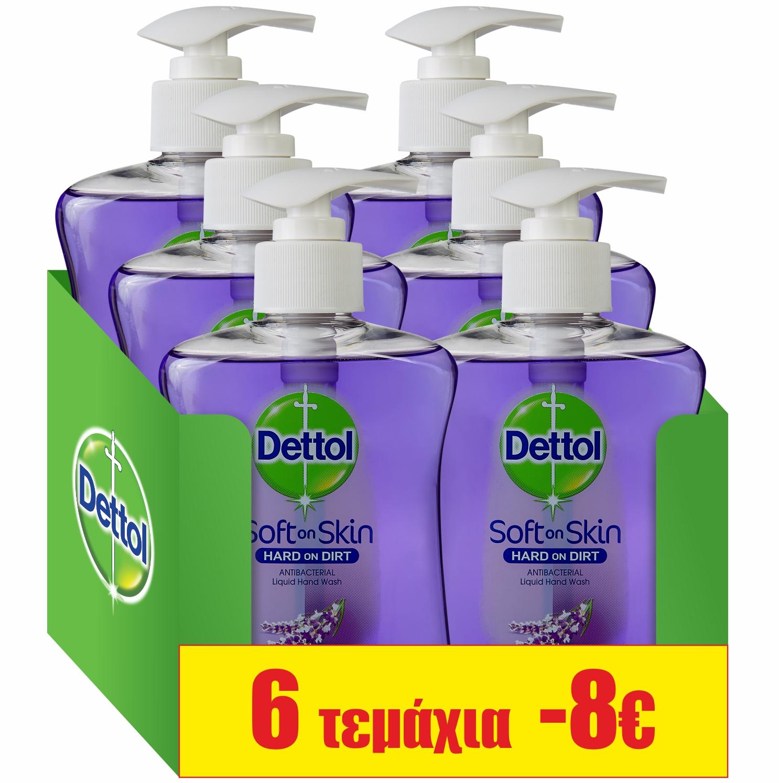 Υγρό Κρεμοσάπουνο Χαλαρωτική Λεβάντα Dettol (250 ml)τα 6 τεμάχια -8€