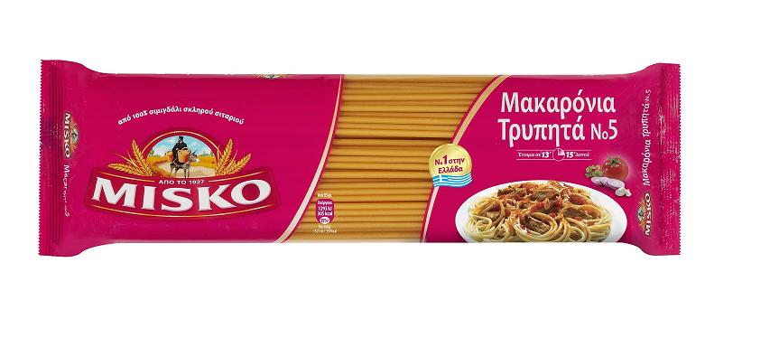 Μακαρόνια Τρυπητά Νο5 Misko (2x500 g) σετ 2 τεμαχίων