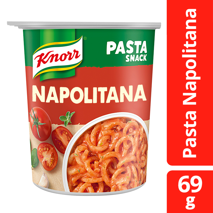 Ζυμαρικά με Σάλτσα Ναπολιτάνα Snack Pot Knorr (69g) ,σετ 2 τεμαχίων -30%