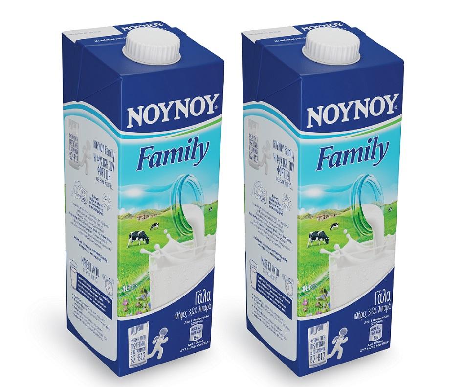 Γάλα Υψηλής Θερμικής Επεξεργασίας Family 3,6% λιπαρά ΝΟΥΝΟΥ (1lt) Τα 2τεμ -20%