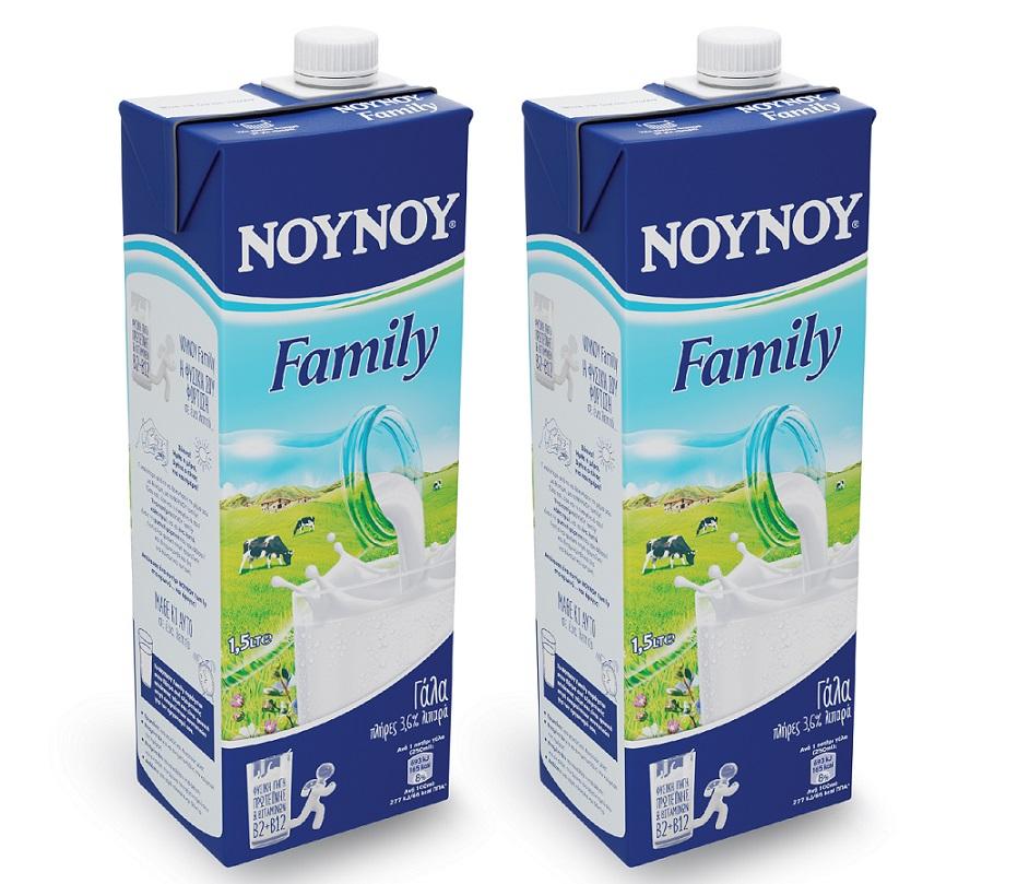 Γάλα Υψηλής Θερμικής Επεξεργασίας Family 3.6% λιπαρά ΝΟΥΝΟΥ (1,5 lt) Τα 2 τεμ -20%
