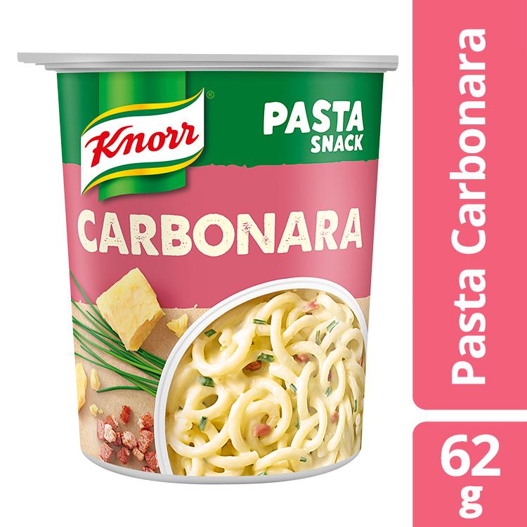 Ζυμαρικά με Σάλτσα Καρμπονάρα Snack Pot Knorr(62g) , τα 2 τεμάχια -30%