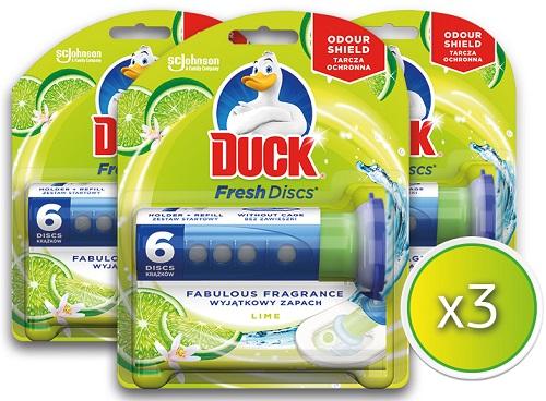 Block για τη Λεκάνη της Τουαλέτας Χωρίς Θήκη Fresh Discs Lime Duck (3x36ml) τα 3 τεμ -40%