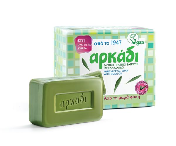 Φυσικό Πράσινο Σαπούνι Αρκάδι (4x150 g) 1+1 Δώρο
