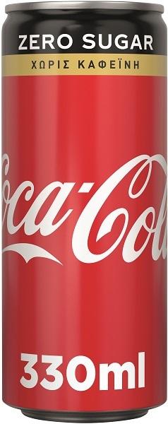 Coca-Cola Χωρίς Καφείνη Κουτί (330 ml)
