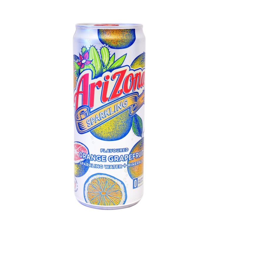 Ανθρακούχο Νερό με Γεύση Πορτοκάλι Grapefruit Arizona (330 ml)