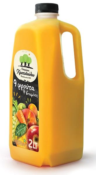 Φυσικός Χυμός 9 Φρούτων με 7 Βιταμίνες Οικογένεια Χριστοδούλου (2 lt)