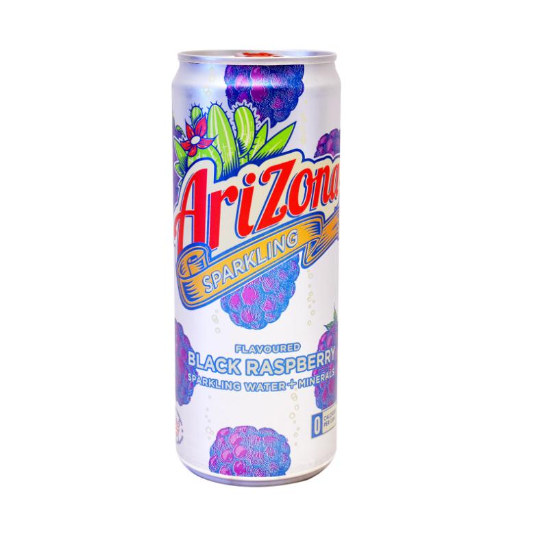 Ανθρακούχο Νερό με Γεύση Μαύρο Βατόμουρο Arizona (330 ml)