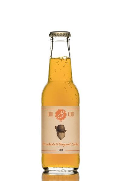 Αναψυκτικό Mandarin & Bergamot Soda Three Cents (200 ml)