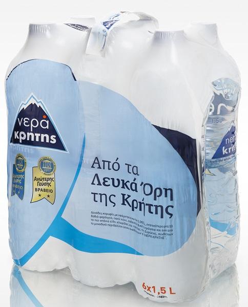 Εμφιαλωμένο Νερό Pet Νερά Κρήτης (6Χ1,5 lt)