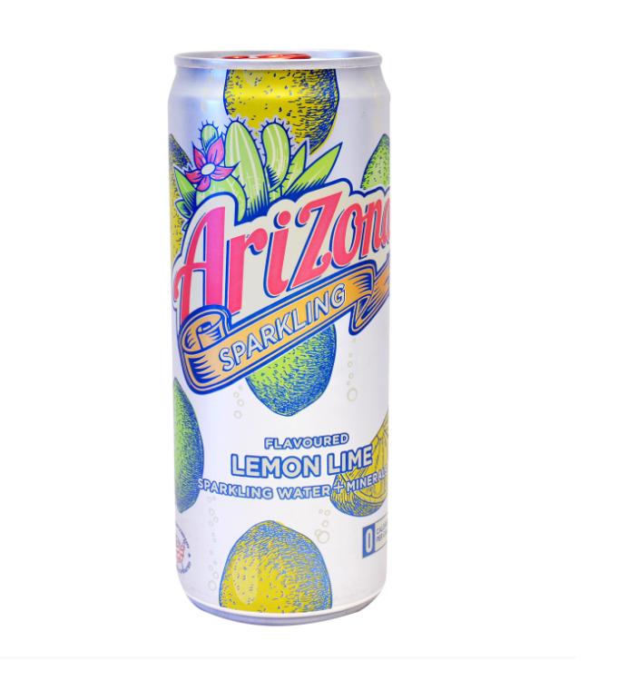 Ανθρακούχο Νερό με Γεύση Λεμόνι Lime Arizona (330 ml)