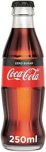 Coca Cola Zero Γυάλινη Φιάλη (250 ml)
